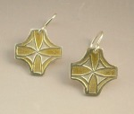 bright byzantine cross earrings